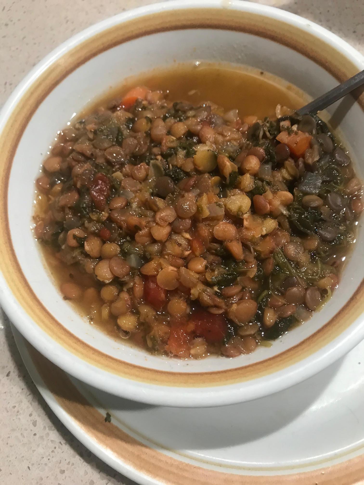 Winter Lentil Vegetable Soup
