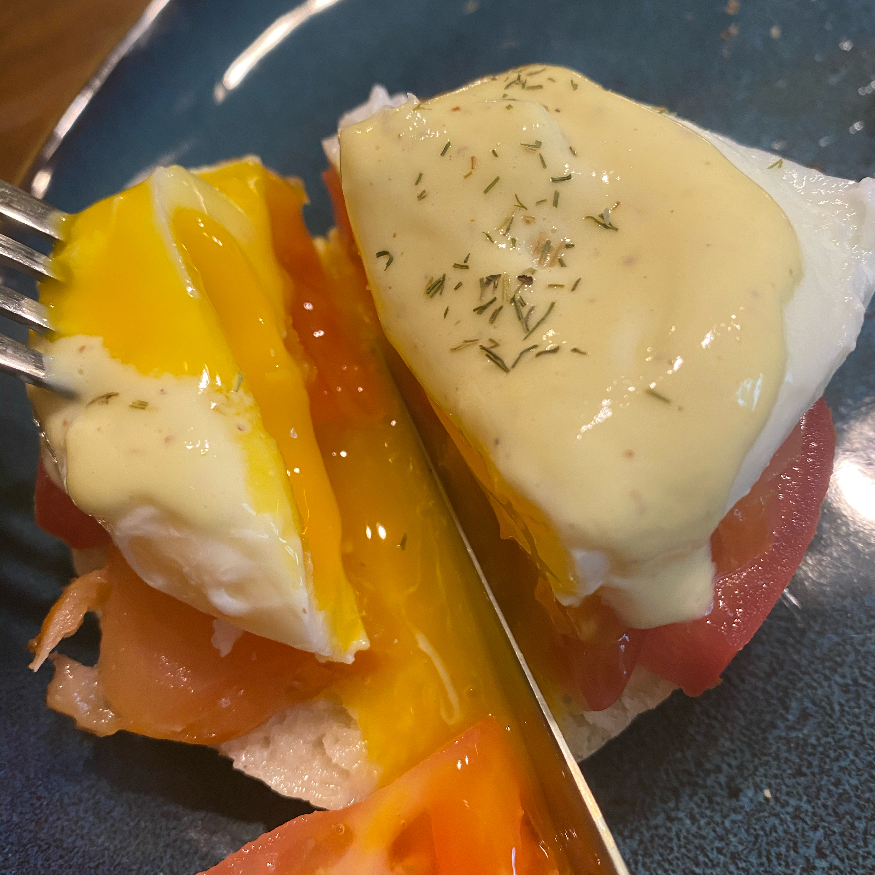 Eggs Benedict with Salmon Sharon Poliarco Van Fleet