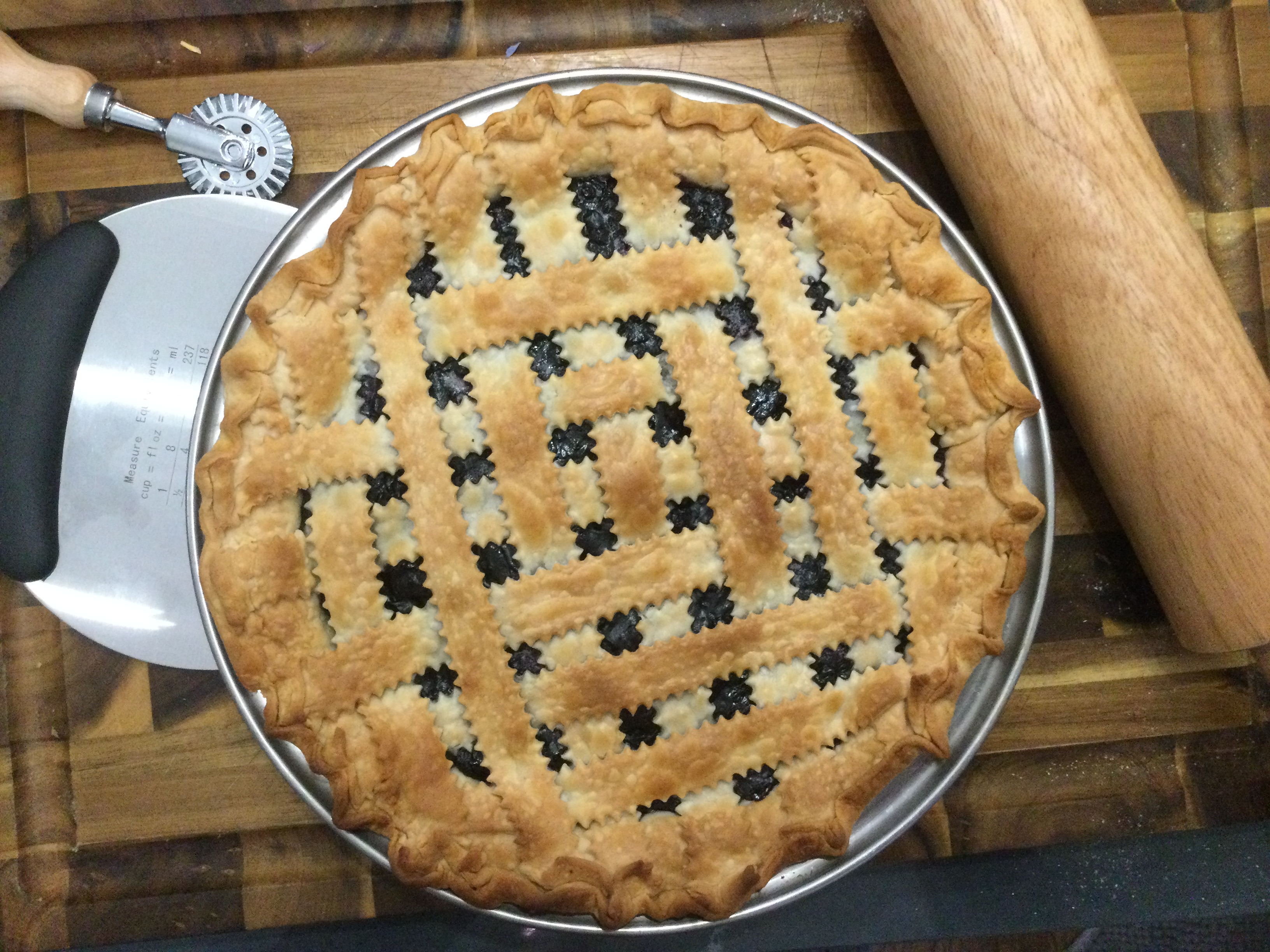 Blueberry Pie with Frozen Berries Lisa