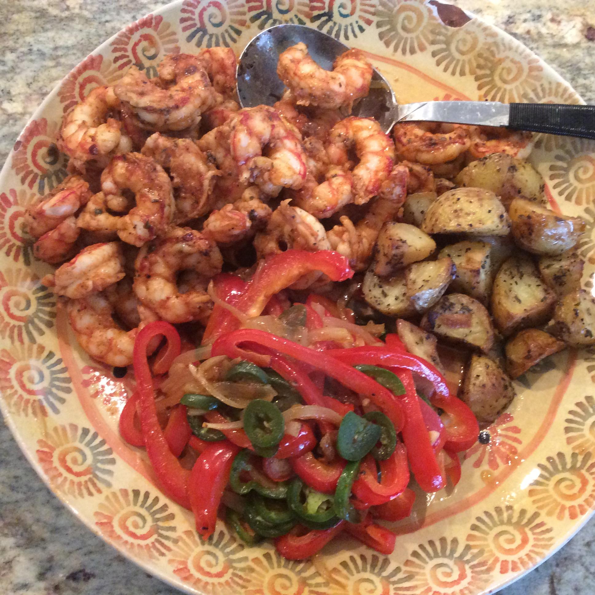 Sheet Pan Shrimp Fajitas Terry Degrow