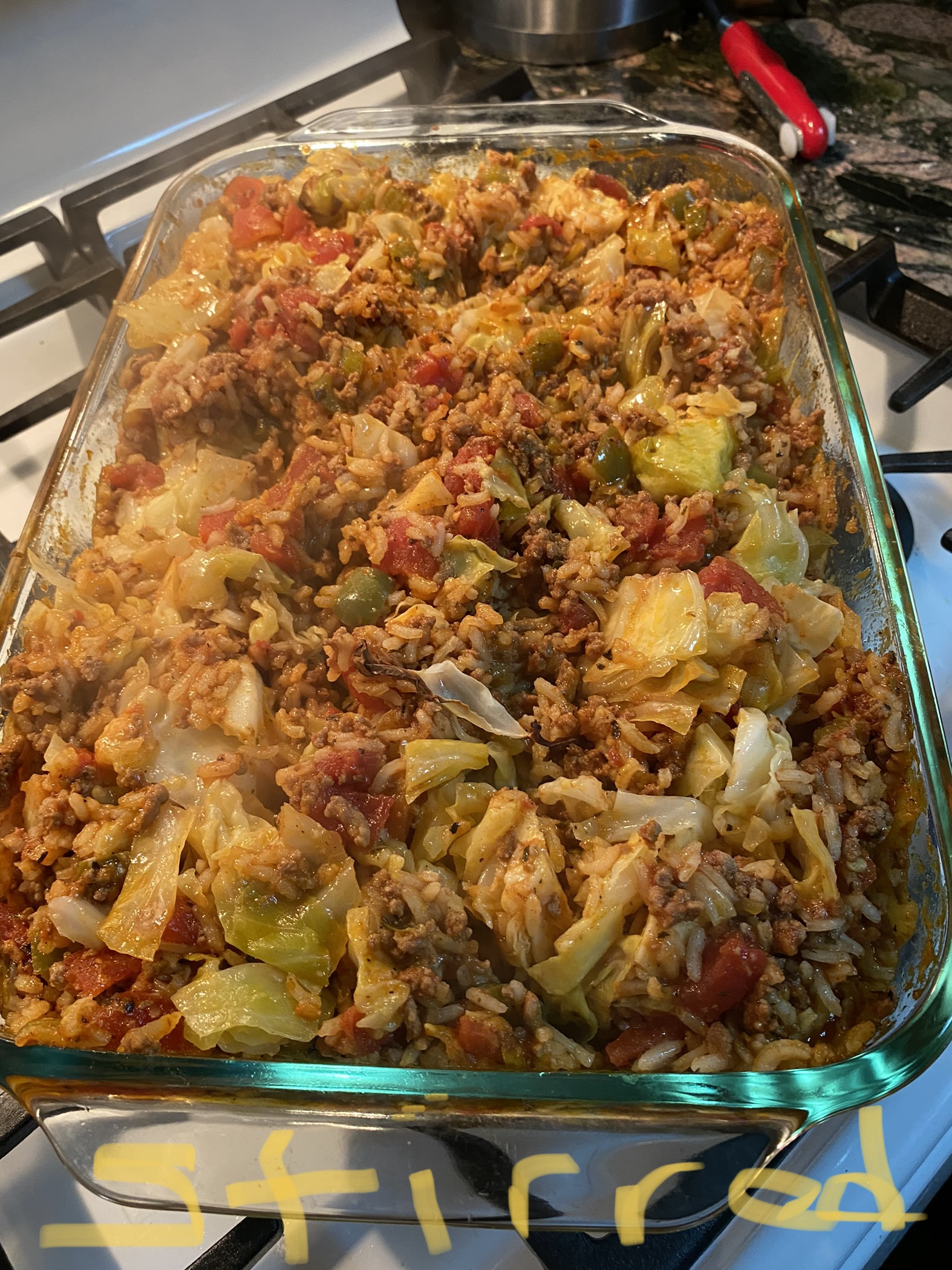 Cajun Cabbage with Rice