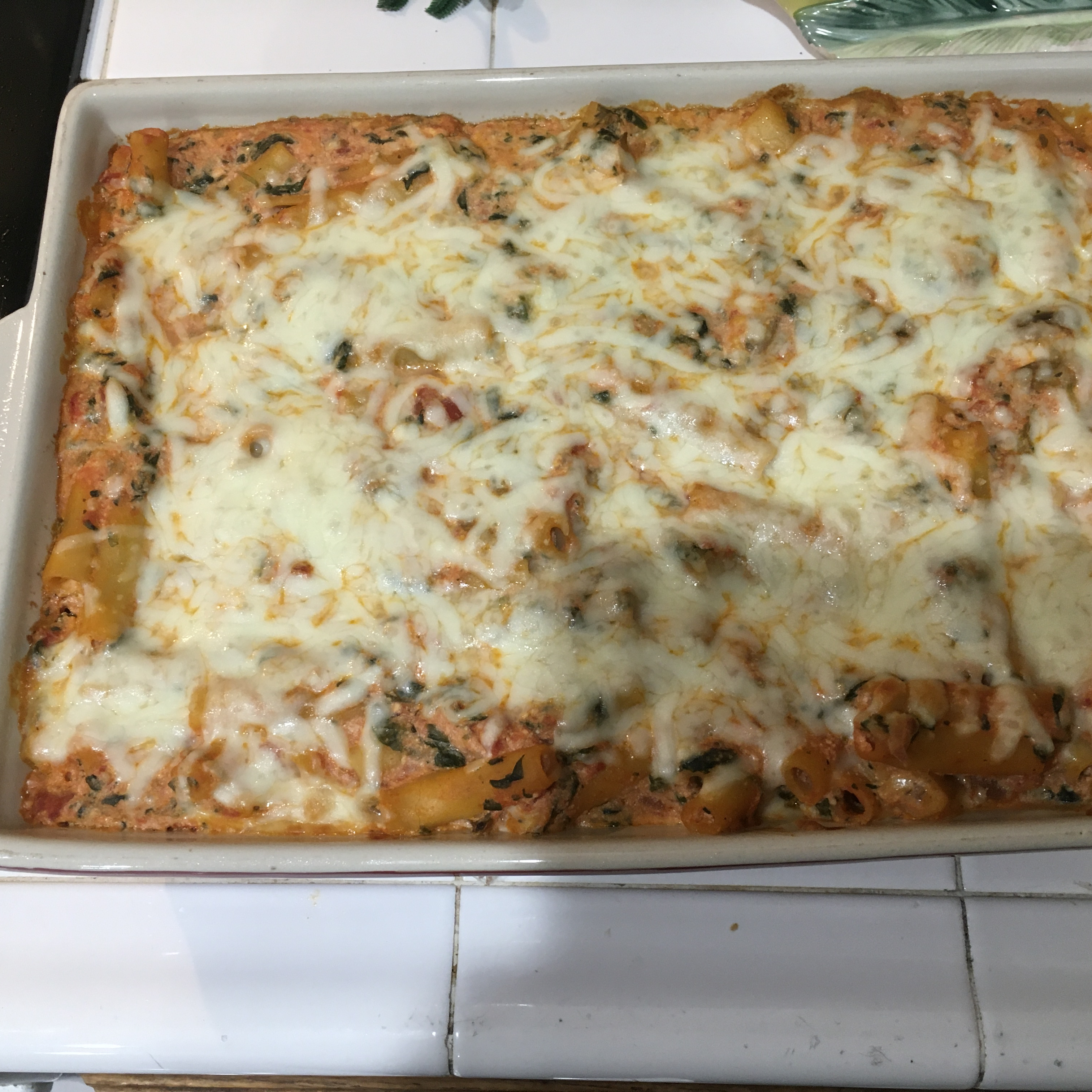 Delicious Meatless Baked Ziti