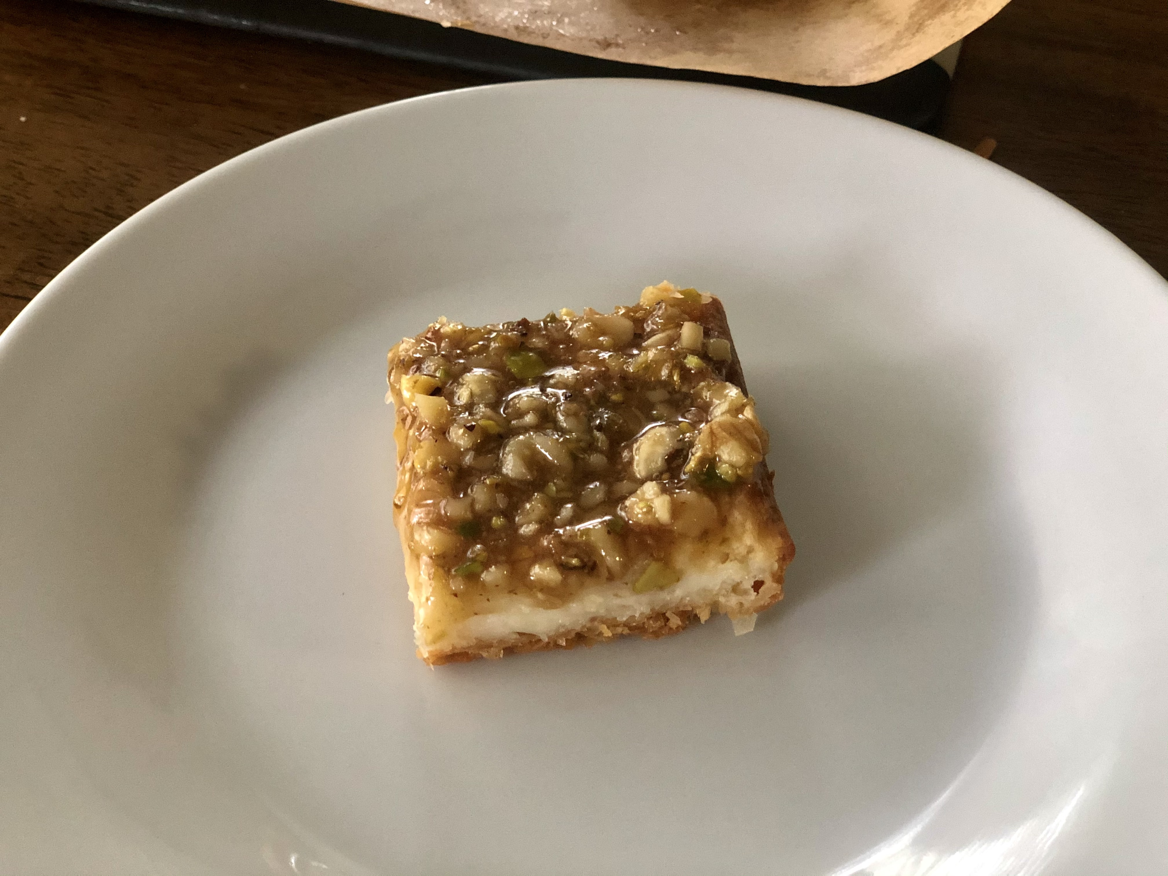 Baklava-Style Cheesecake Bars