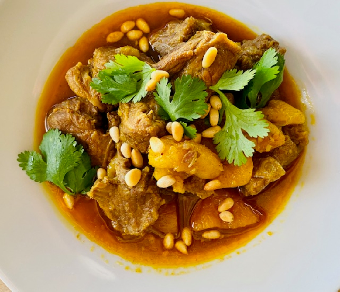 Moroccan Lamb Stew with Apricots