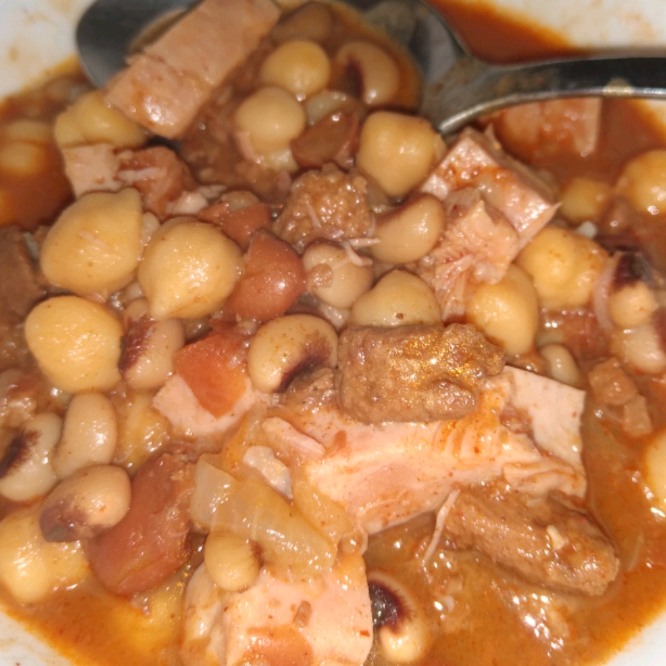 Slow Cooker Ham and Bean Stew