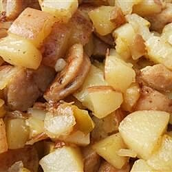sweet breakfast hash with apple and rosemary recipe