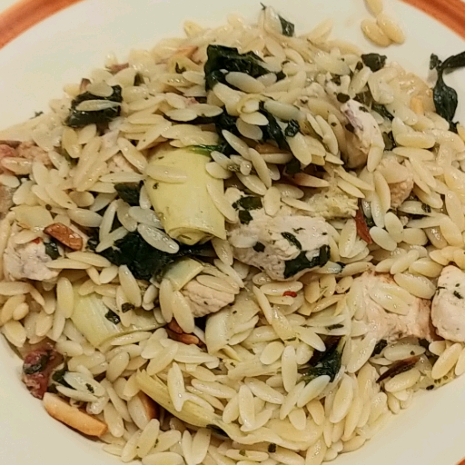 Orzo with Chicken and Artichokes Scott Colan