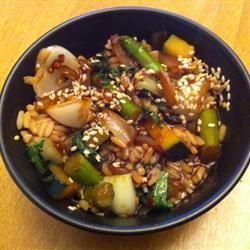 Bok Choy and Asparagus Stir-Fry