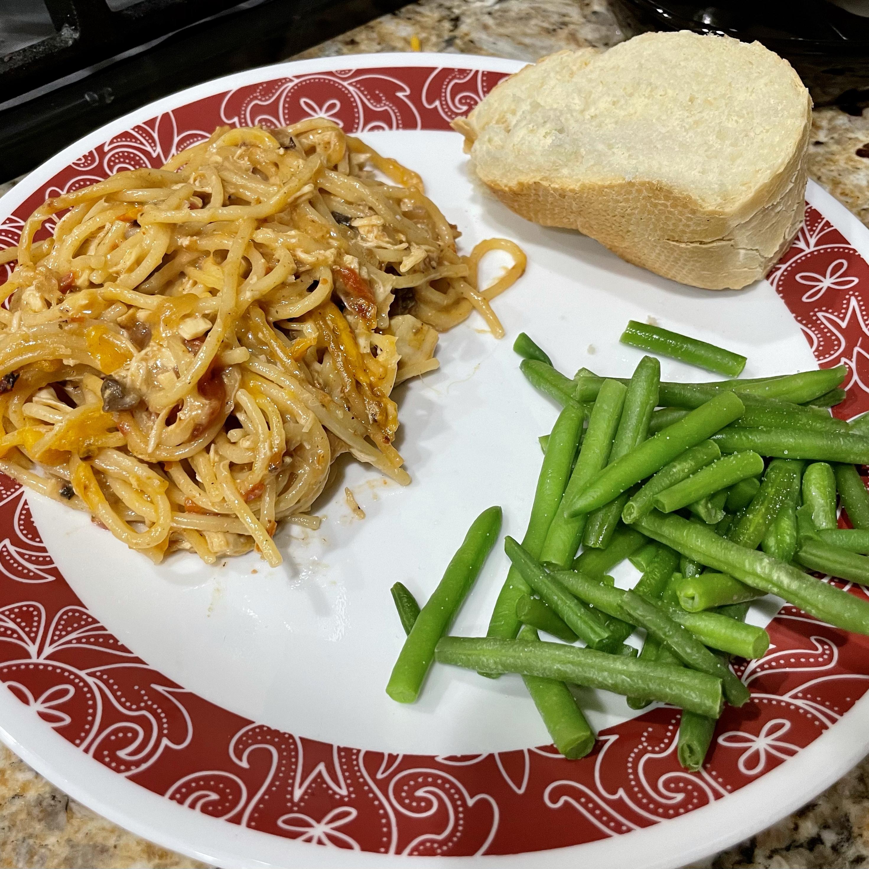 Instant Pot® Spicy Chicken Spaghetti Casserole with Frozen Chicken Breasts Morgan1436