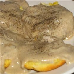 Old Time Kentucky Bacon Milk Gravy for Biscuits