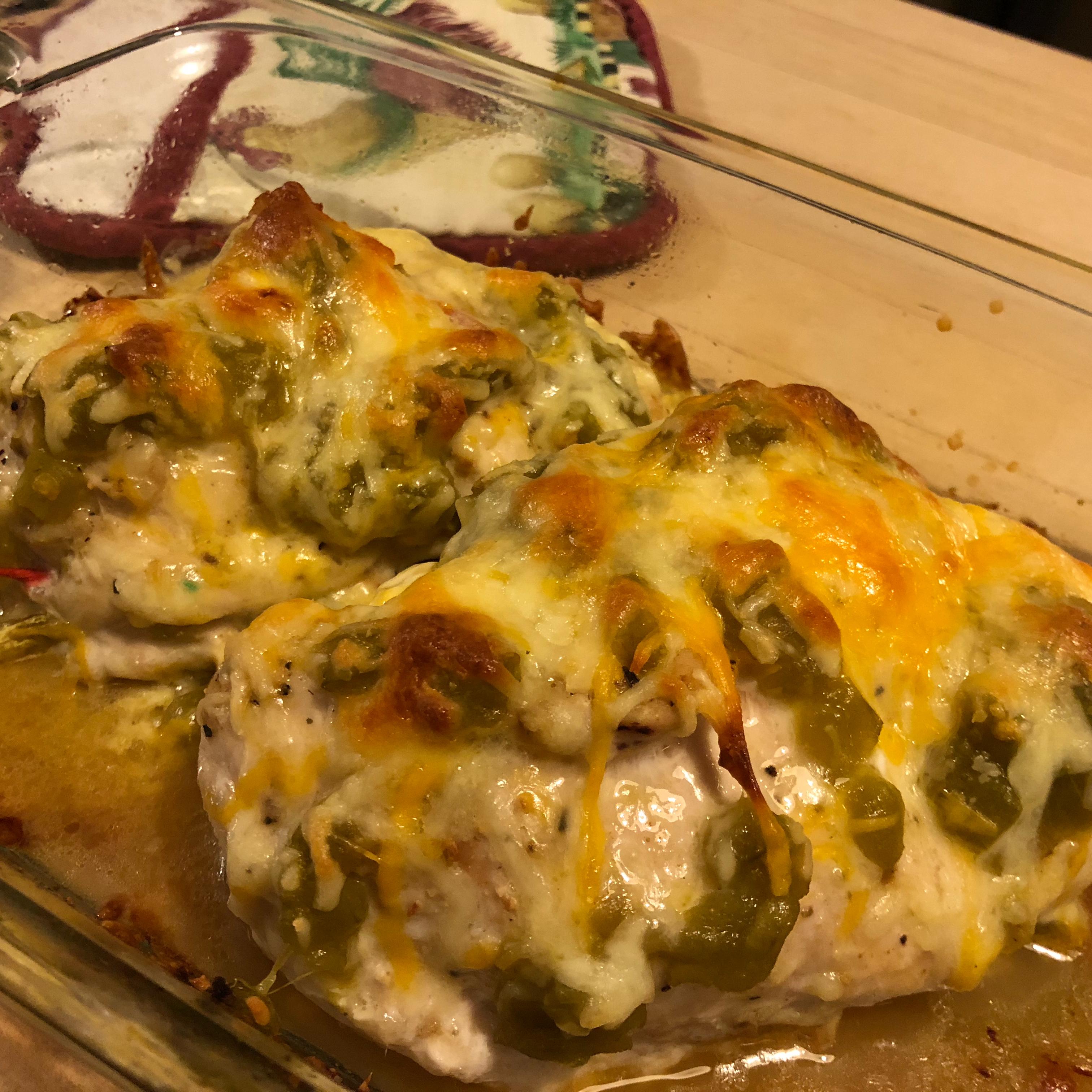 Green Chili and Cheese Chicken