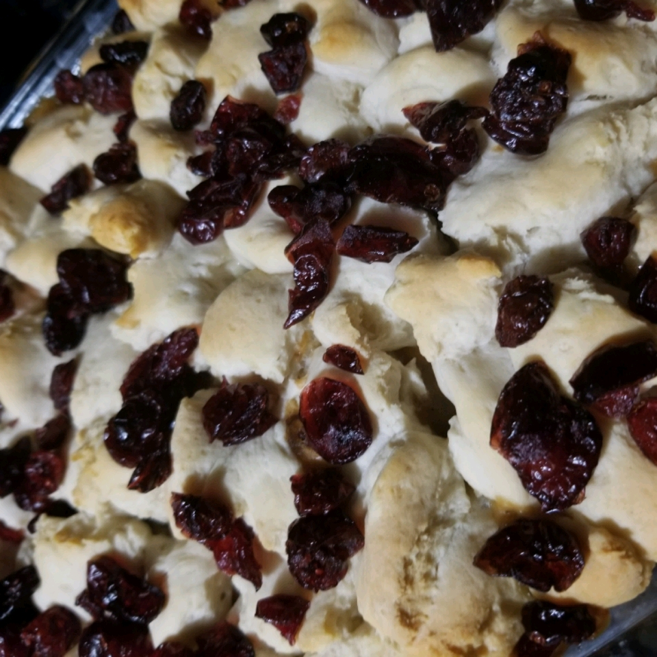 Sausage, Cranberry, and Biscuit Breakfast Bake