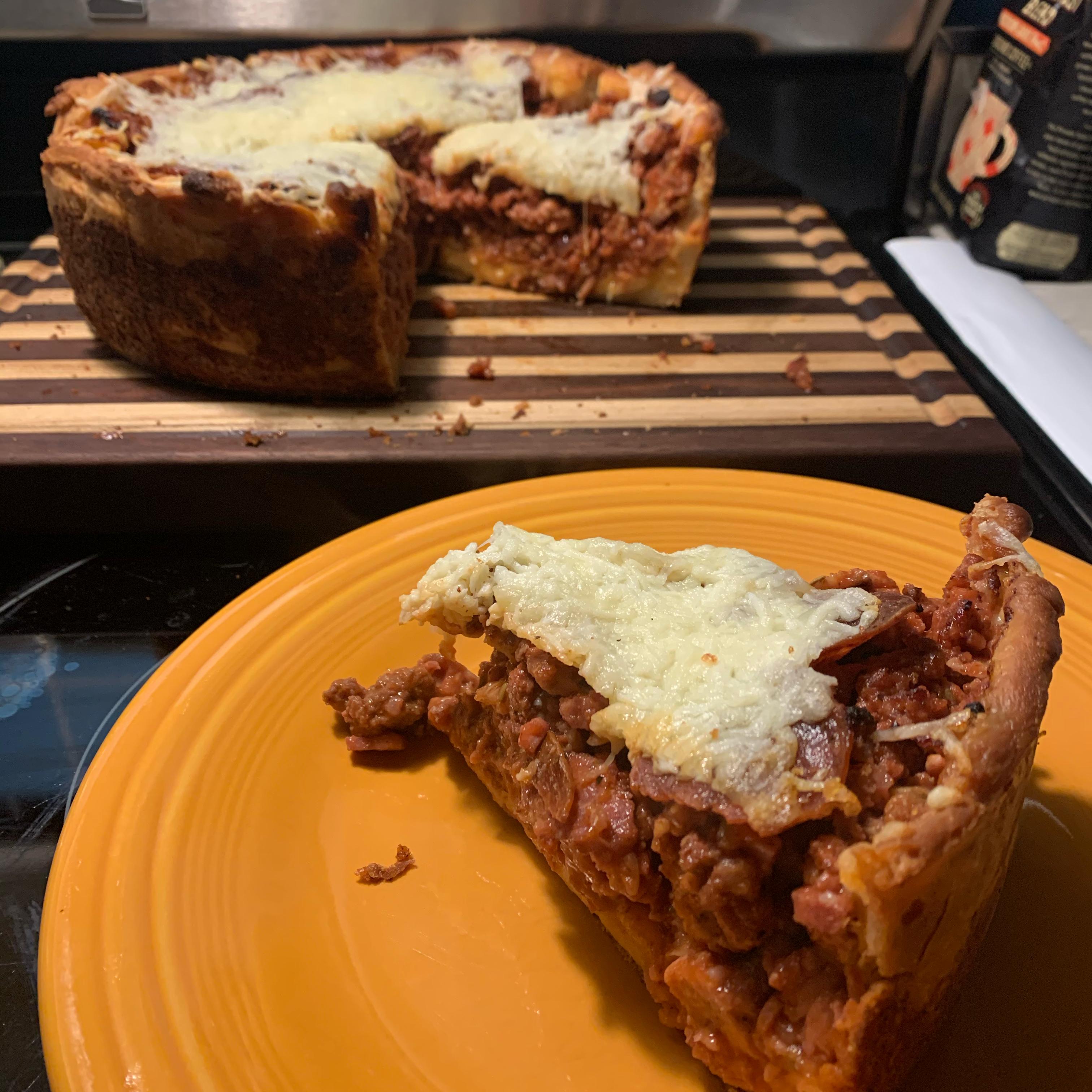 Double Crust Stuffed Pizza