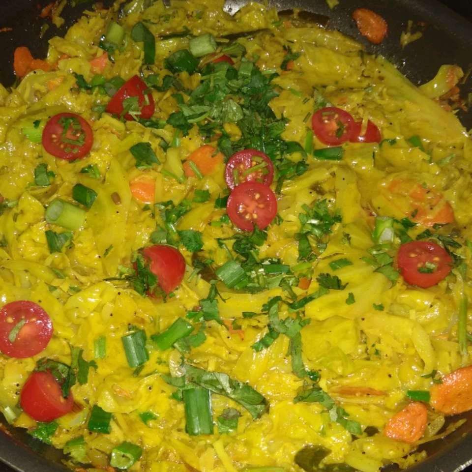 Coconut Curry Cabbage