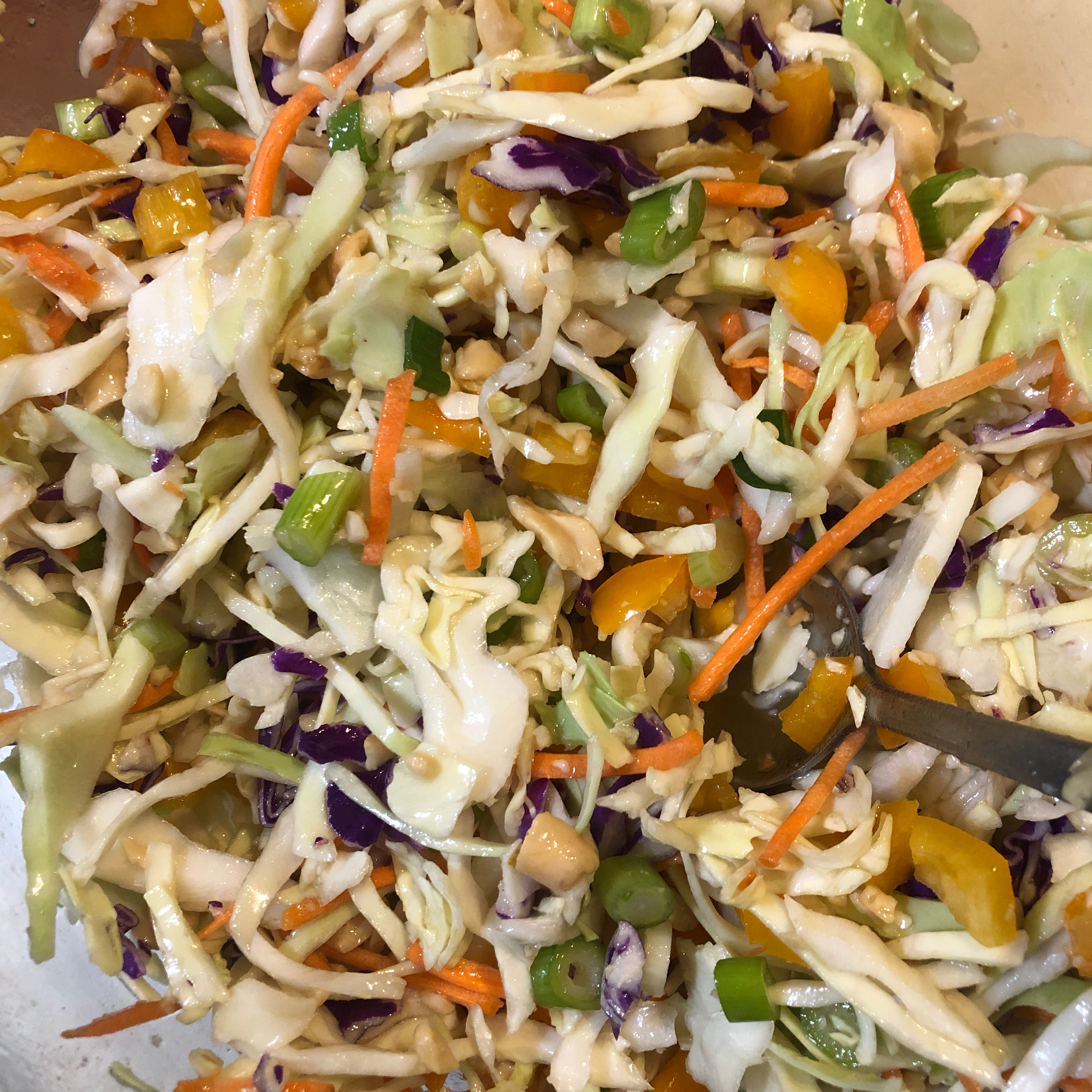 Quick and Easy Thai Style Coleslaw Julie Denise Dunk Liberti