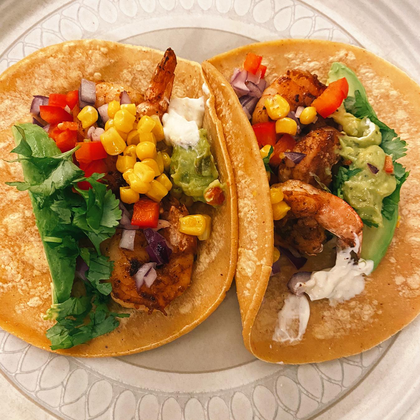 Shrimp Tacos with Cilantro-Lime Crema