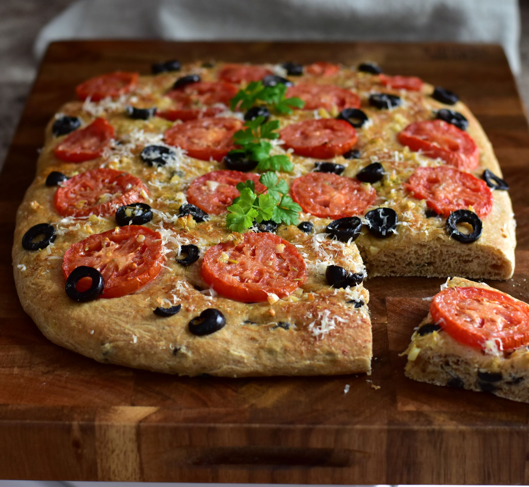 Black Olive and Rosemary Focaccia Kim