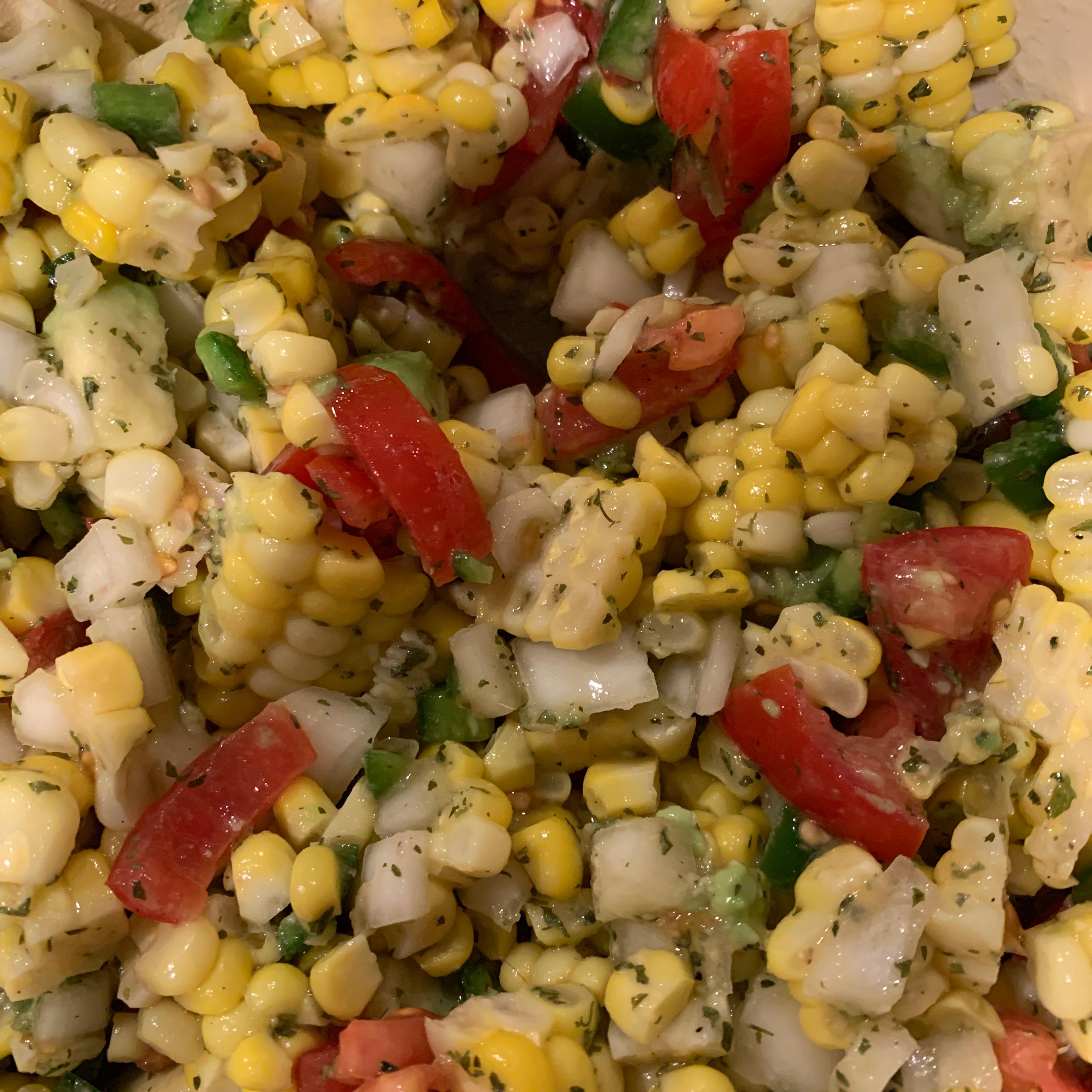 Corn Salad with Lime Vinaigrette