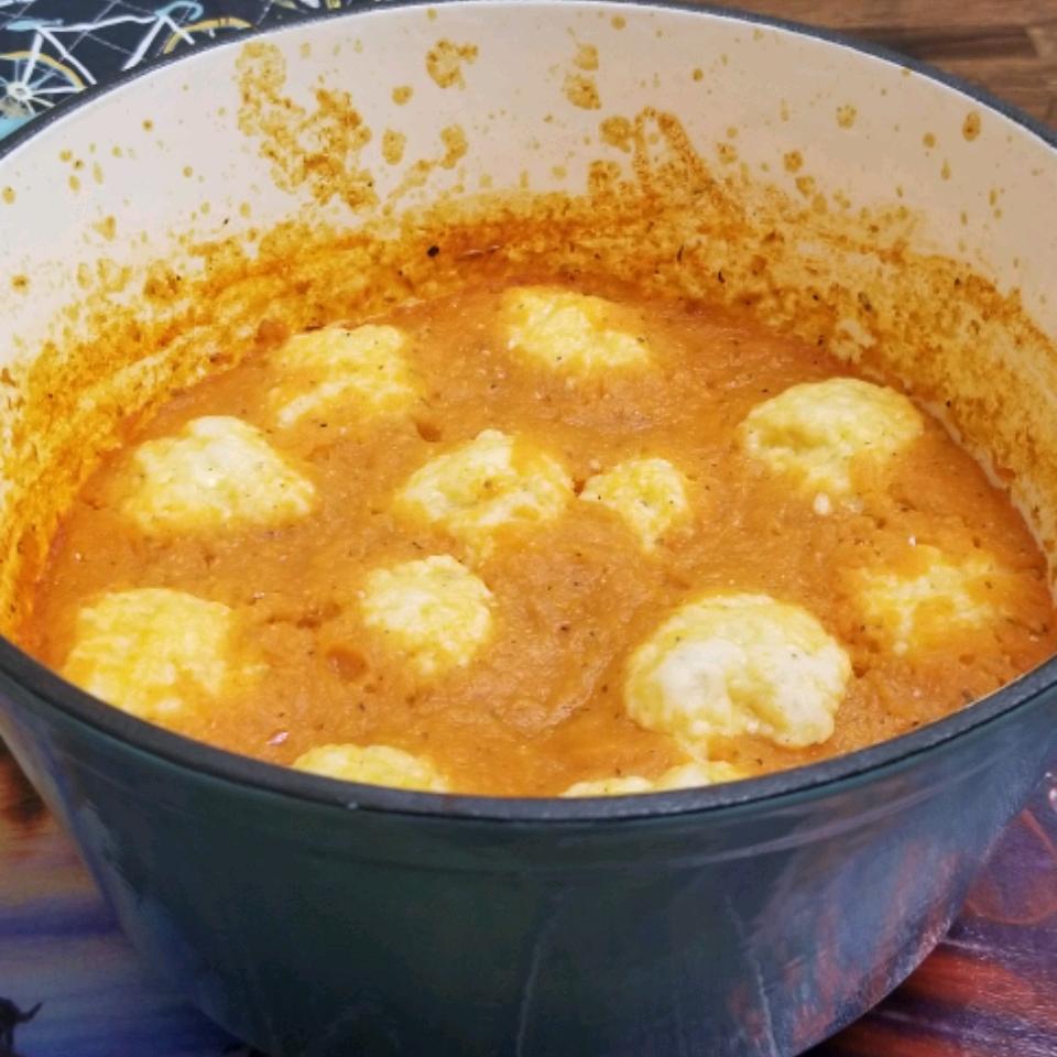 Cheddar Dumpling Tomato Soup Christie