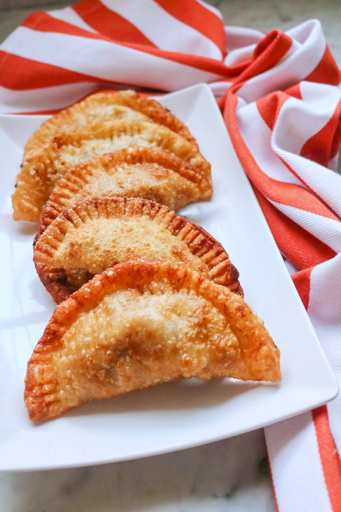 Fried Beef Empanadas with Olives and Sofrito