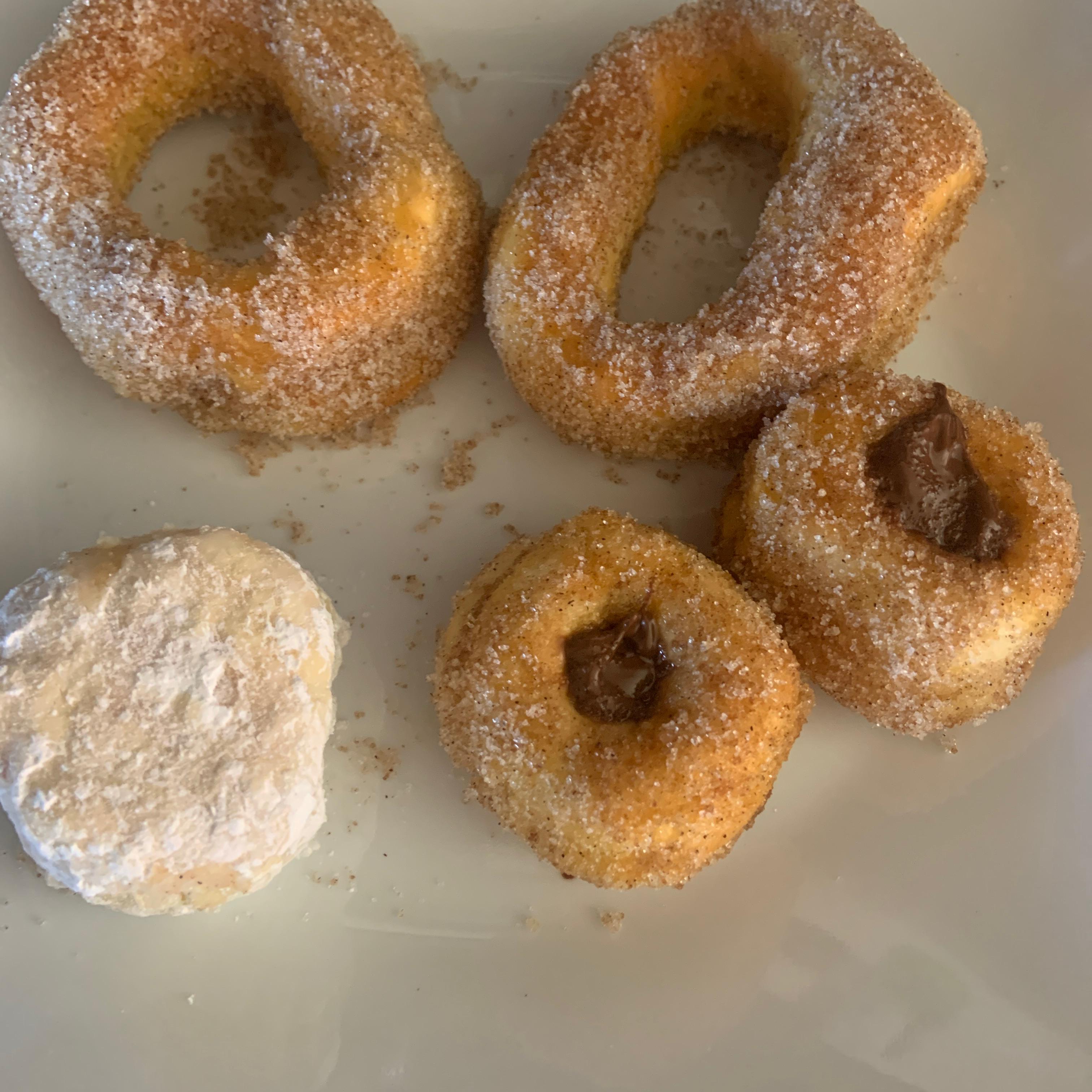 Air Fryer Cinnamon-Sugar Doughnuts