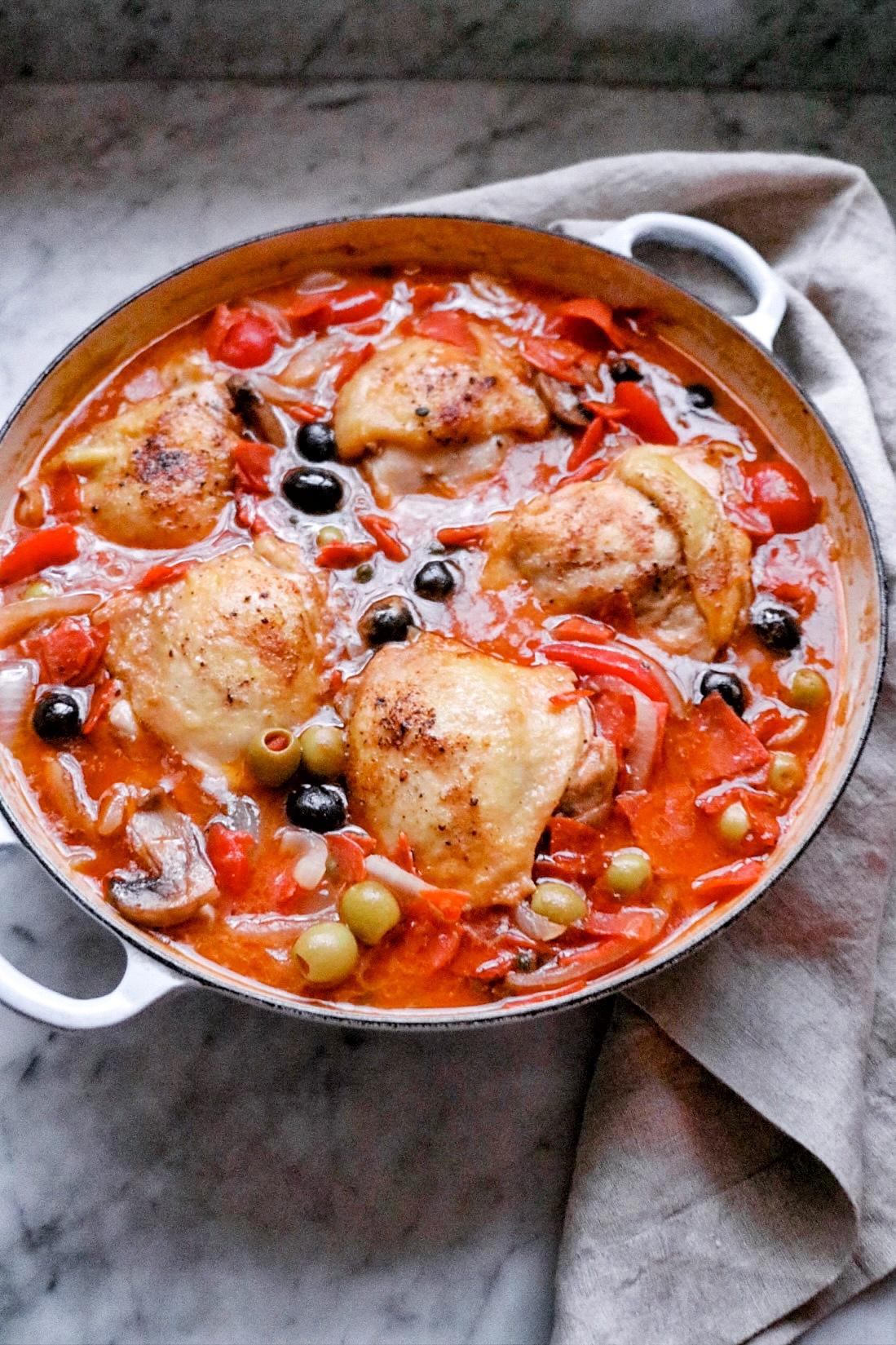 Caper Chicken Cacciatore