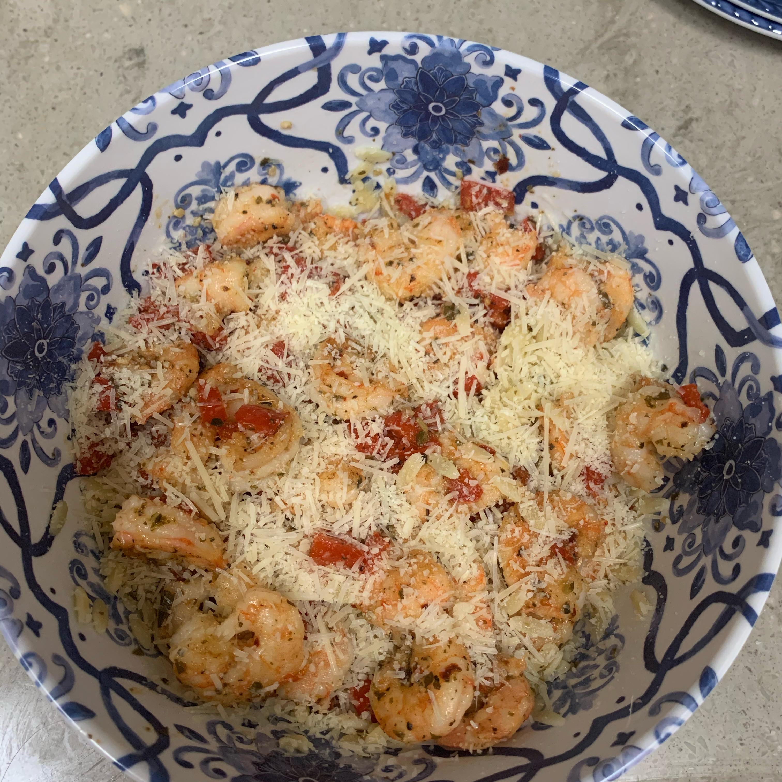 Shrimp Orzo Pesto Angie Eudy