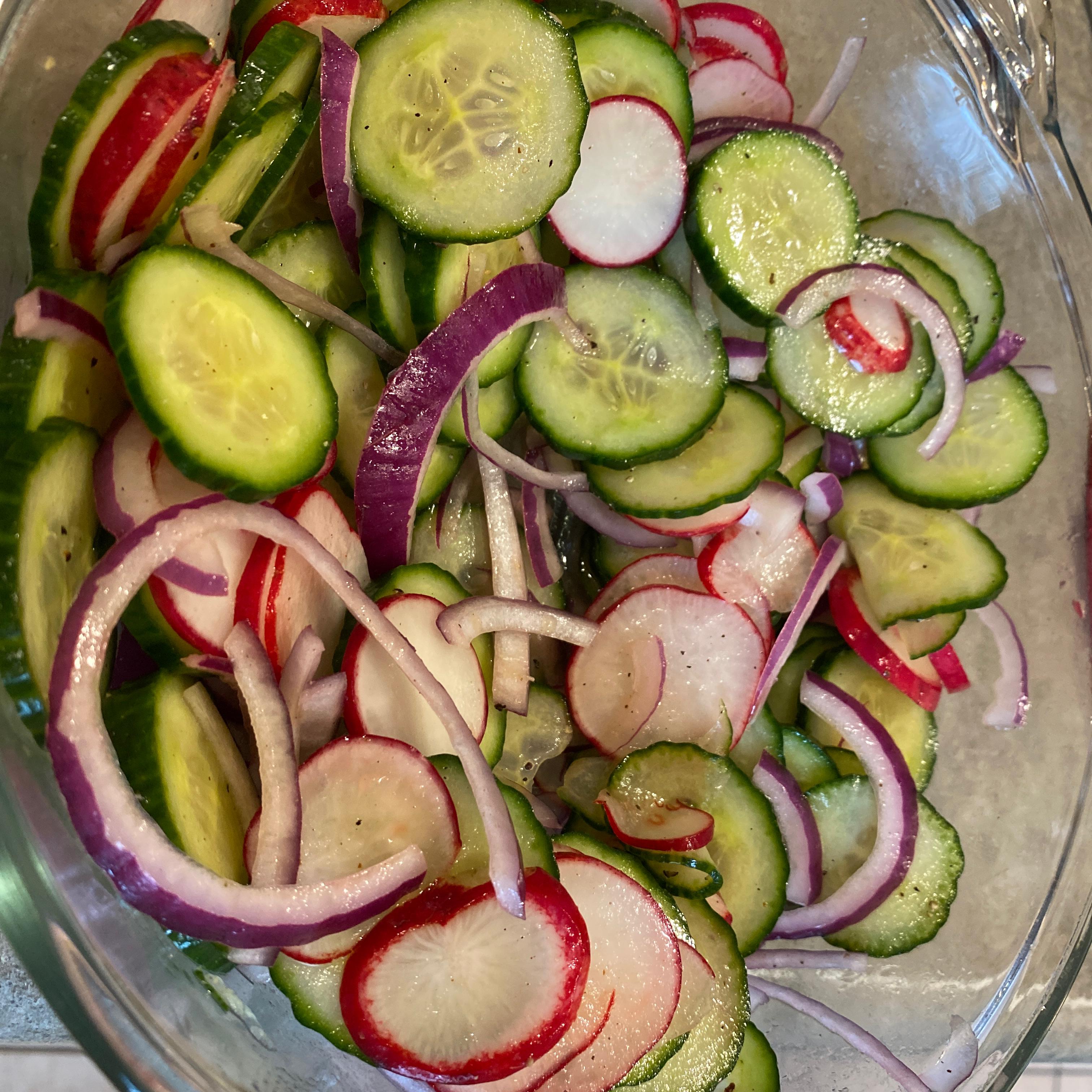 Simple Cucumber and Radish Salad Shell