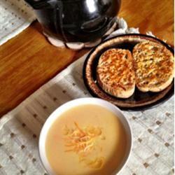 Creamy Cheddar Cheese Soup Tetya