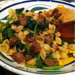 Orcchiette Pasta with Broccoli Rabe and Sausage KingpinRI