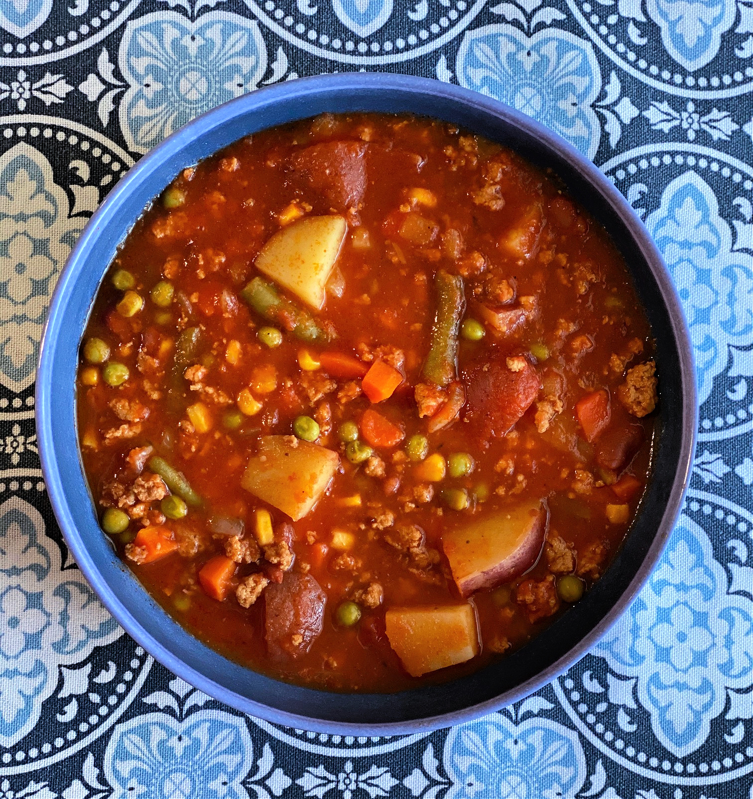 Ground Turkey Soup with Beans