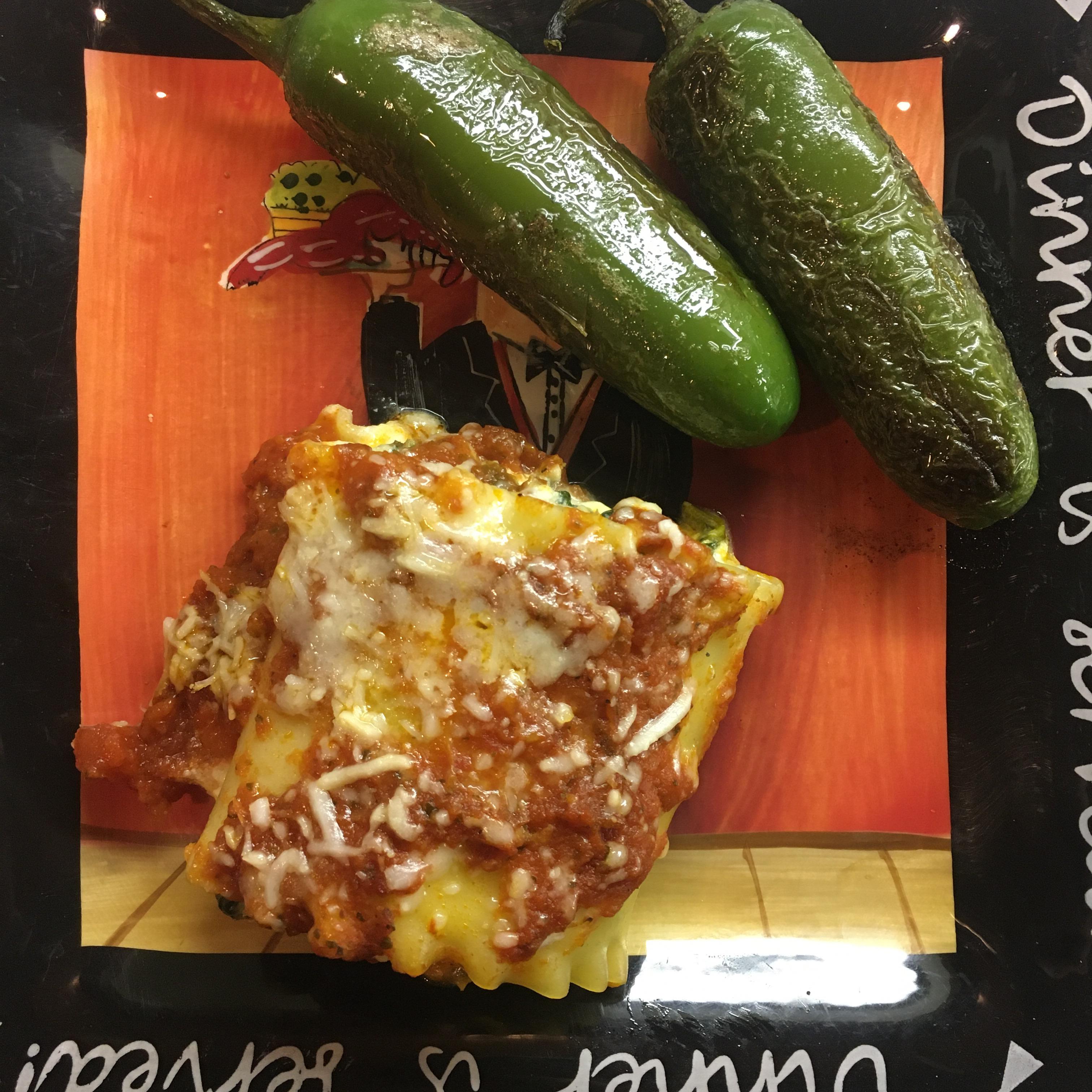Spinach Lasagna Roll Ups deedee