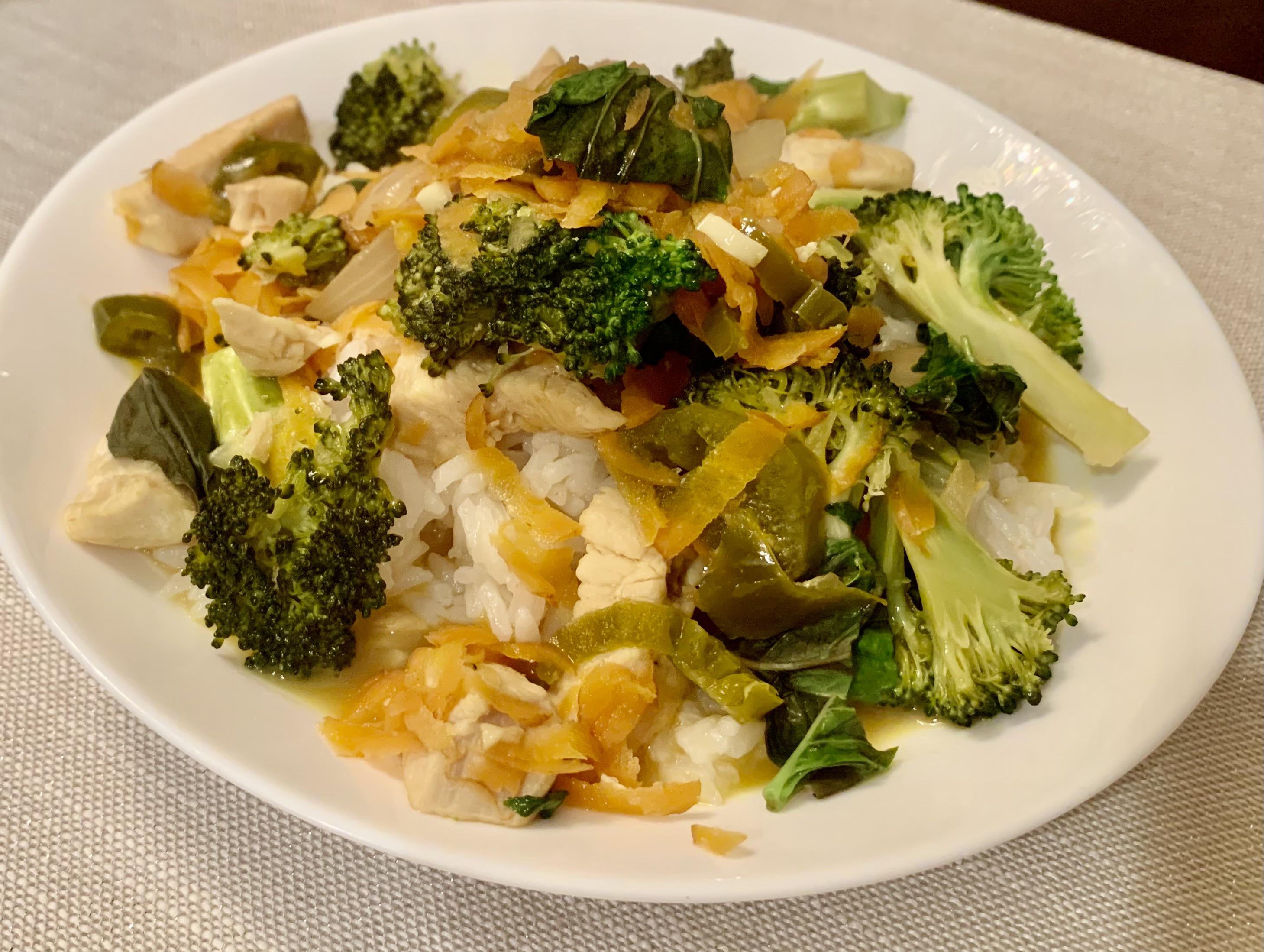 Spicy Thai Basil Chicken FrackFamily5 CA—>CT
