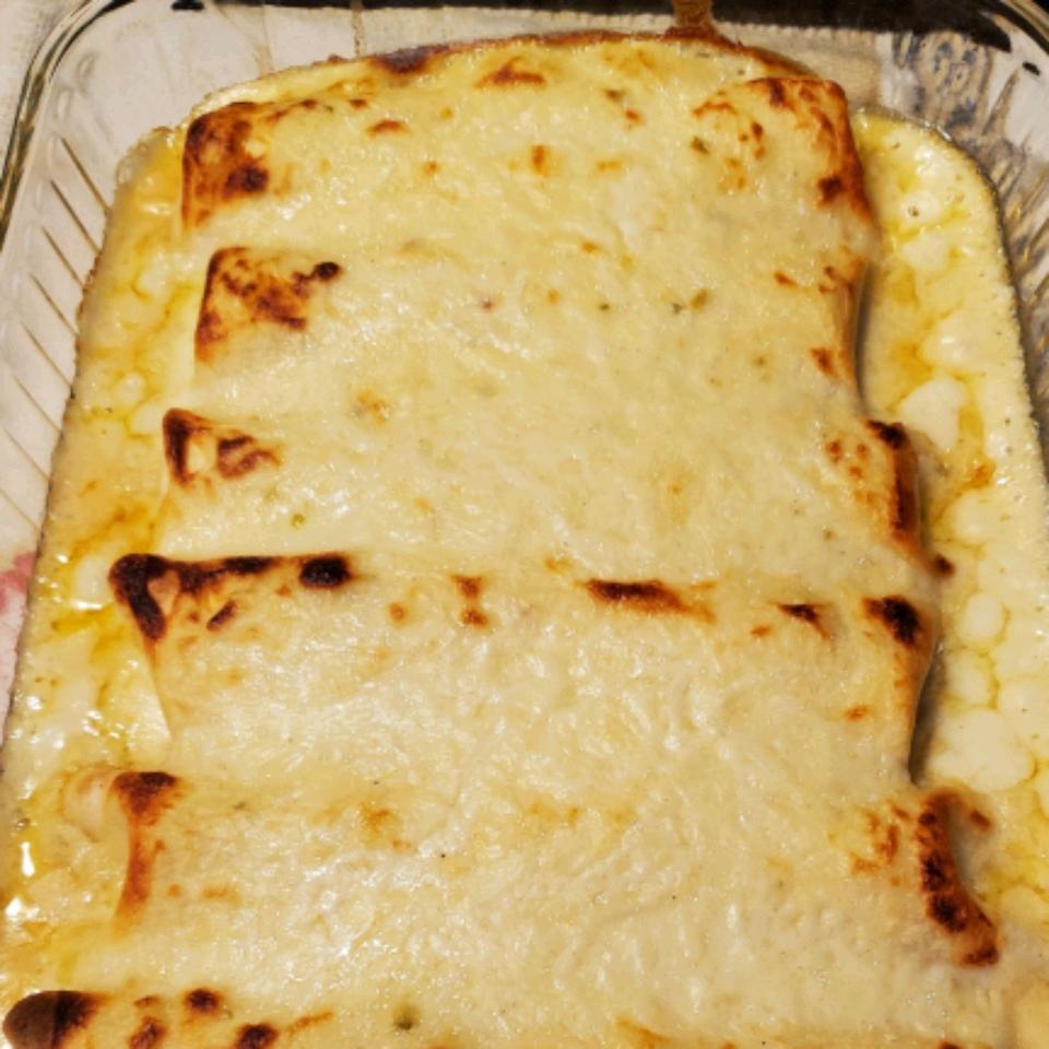 Creamy White Chicken Enchiladas Jenna Benardo
