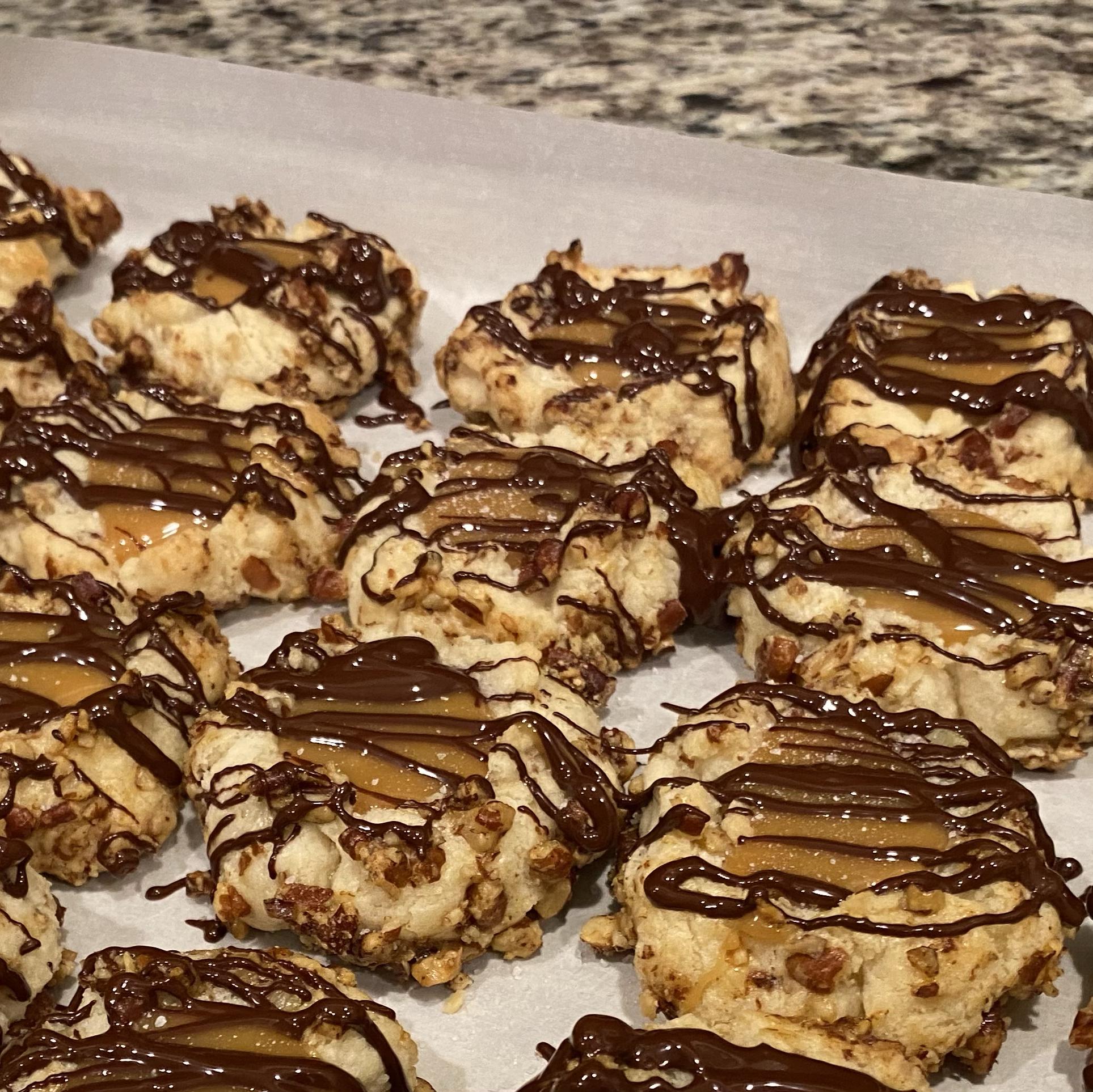 Salted Caramel Chocolate Pecan Cookies