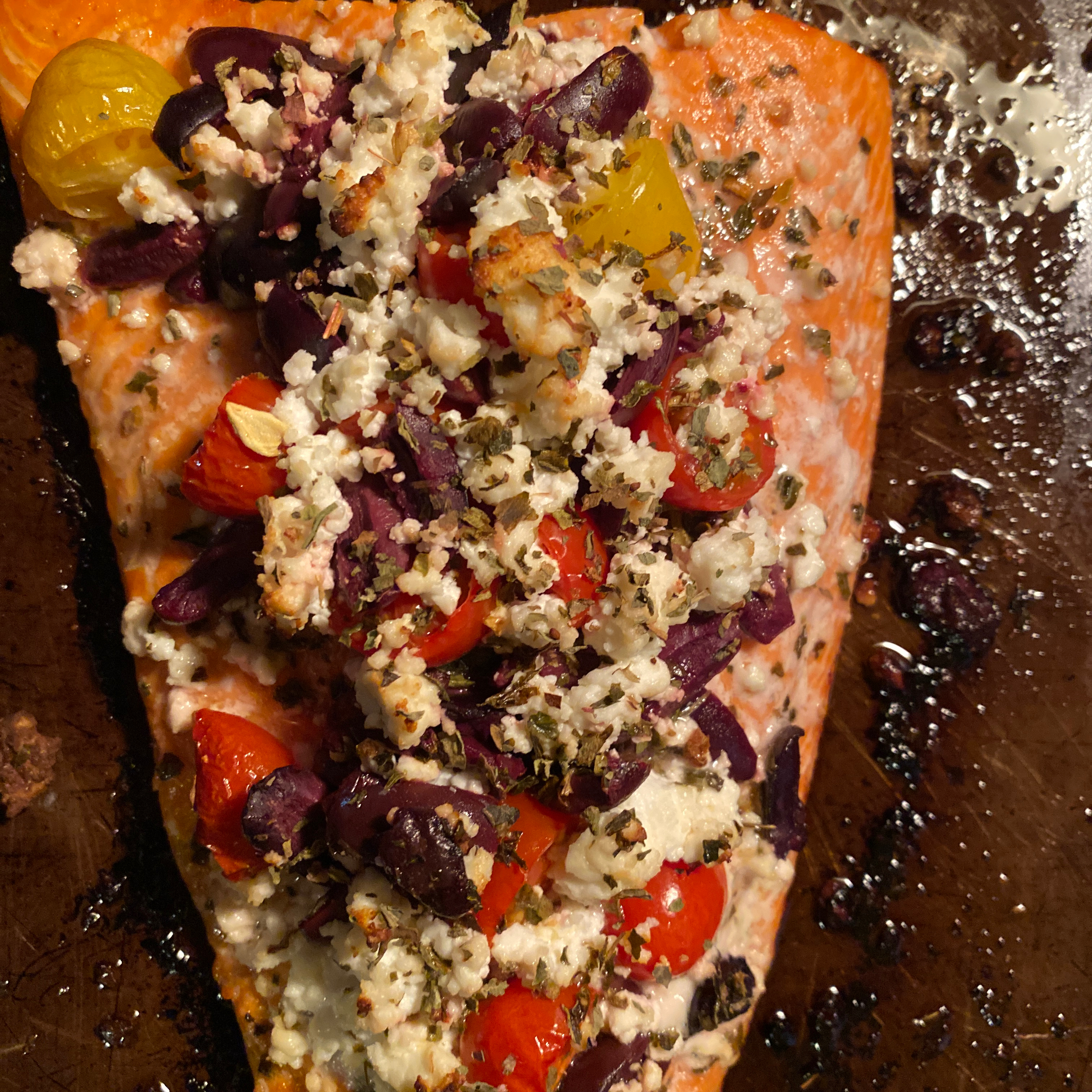 Greek-Style Baked Salmon