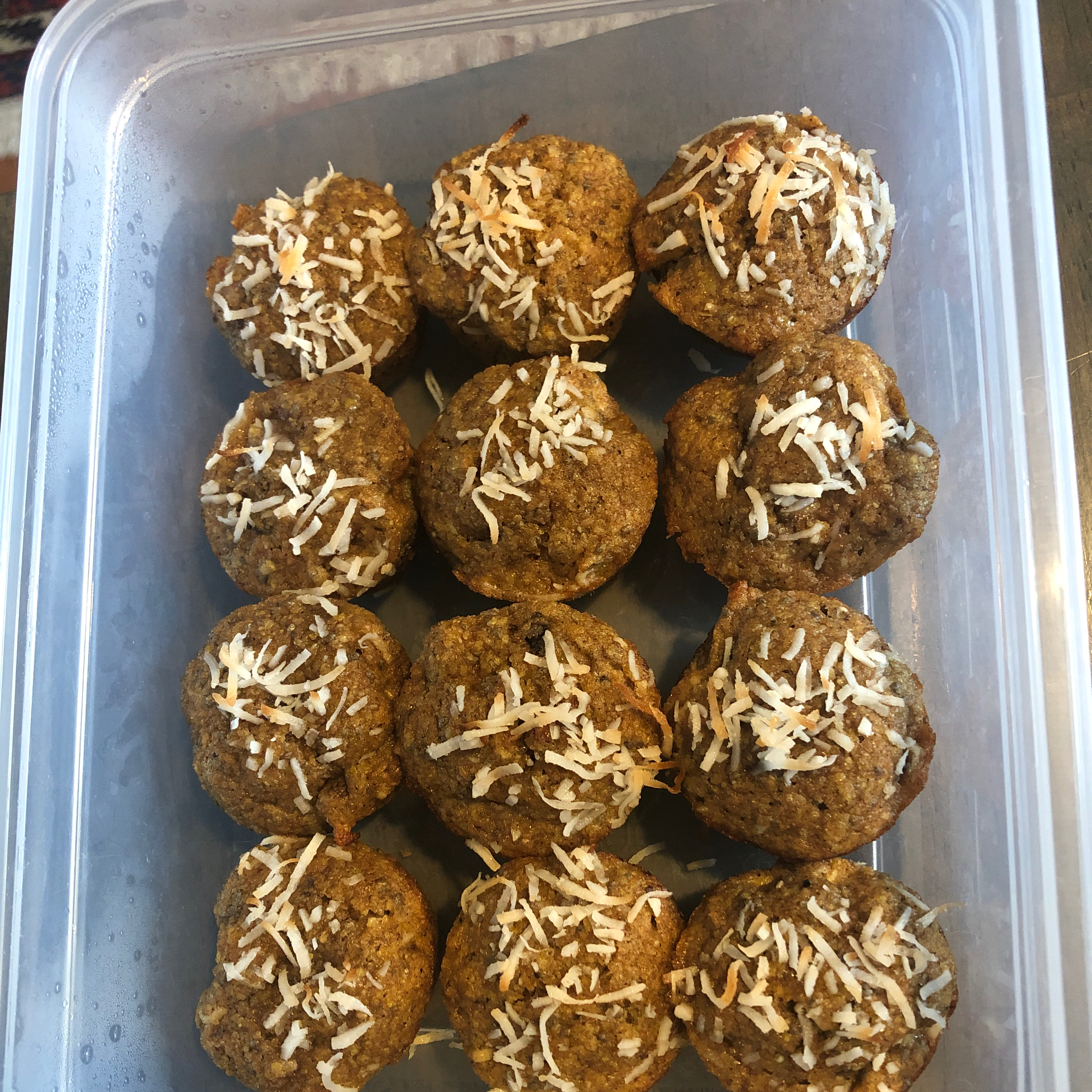 Banana Coconut Flaxseed Muffins with Apple and Chia Amy Phillips