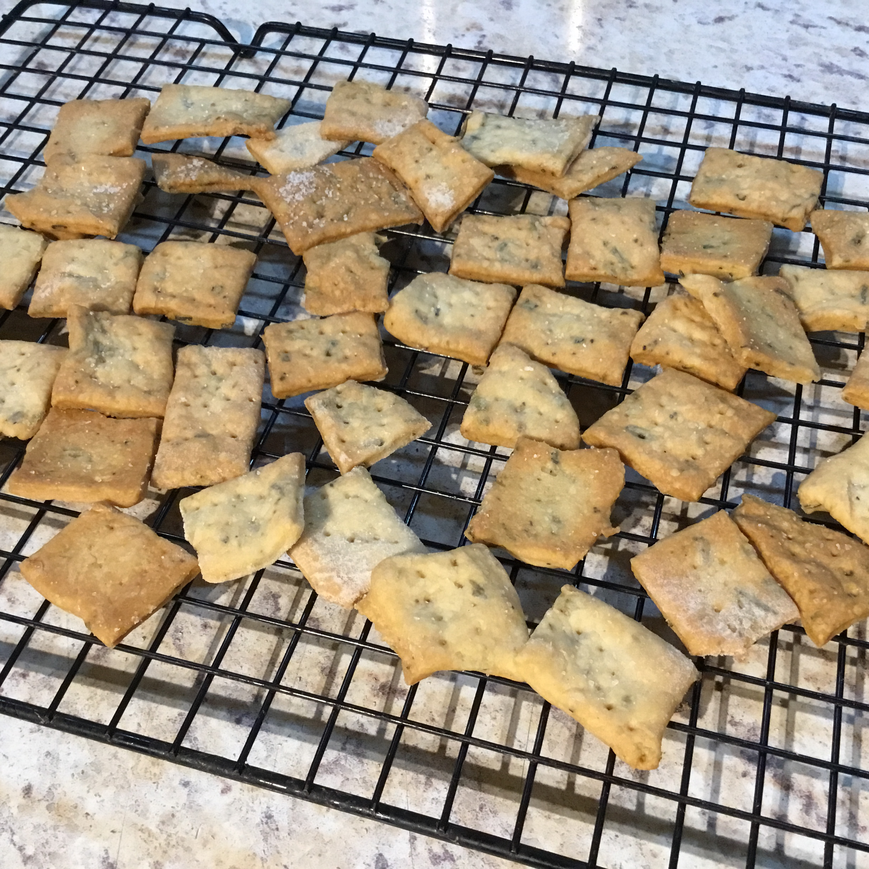 Sourdough Rosemary Crackers Cheryl McDaniel-Thomas