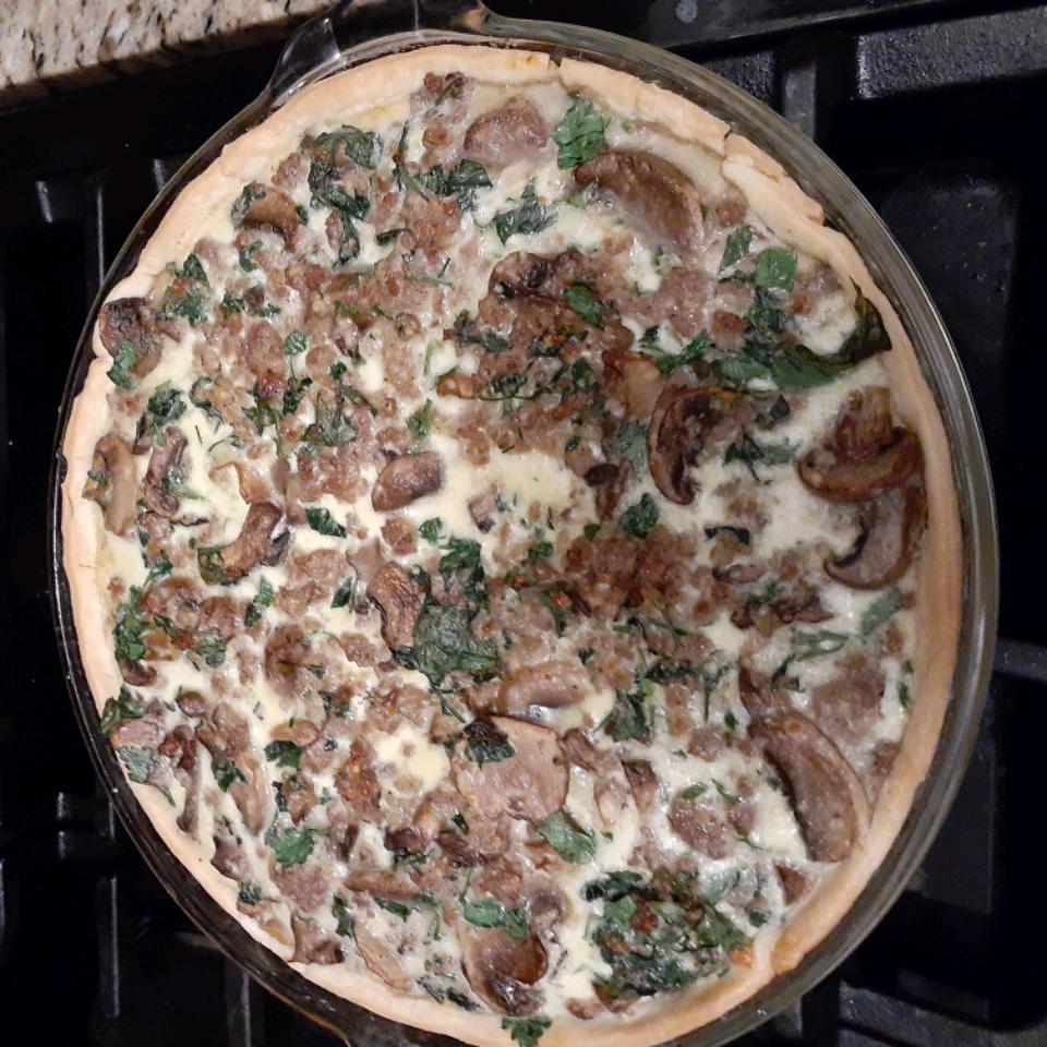 Sausage Mushroom Quiche
