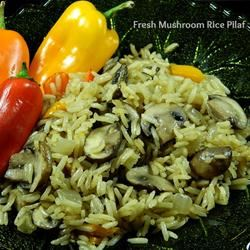Fresh Mushroom Rice Pilaf Marianne