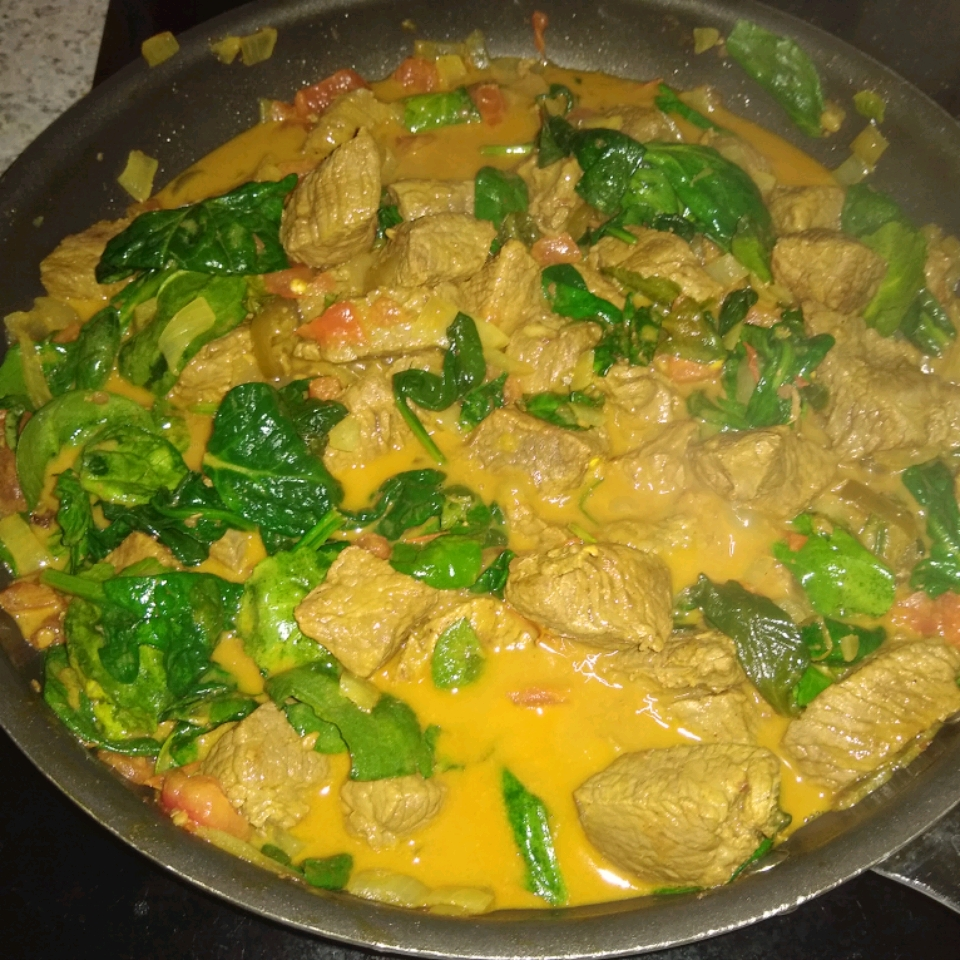 Beef and Spinach Curry James