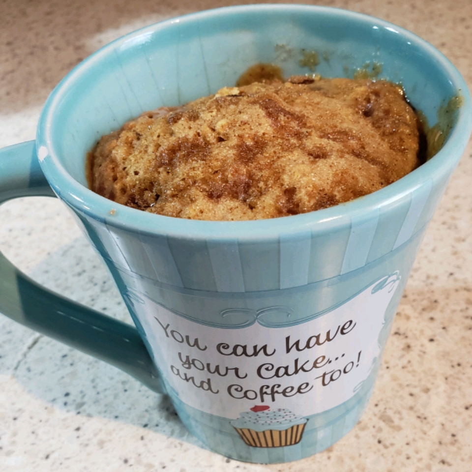 Microwave Blueberry Muffin in a Mug