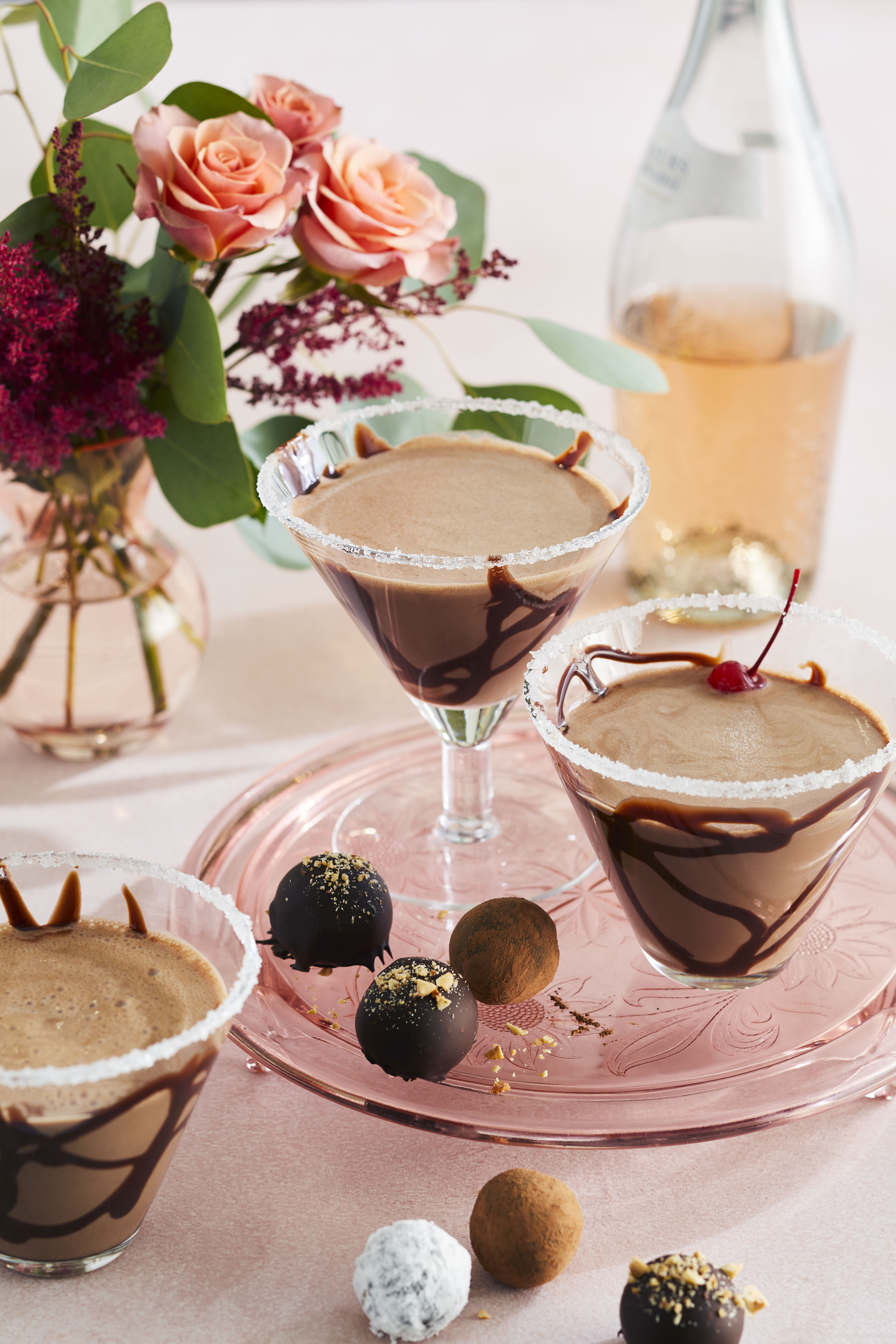Easy Chocolate Martinis for Two