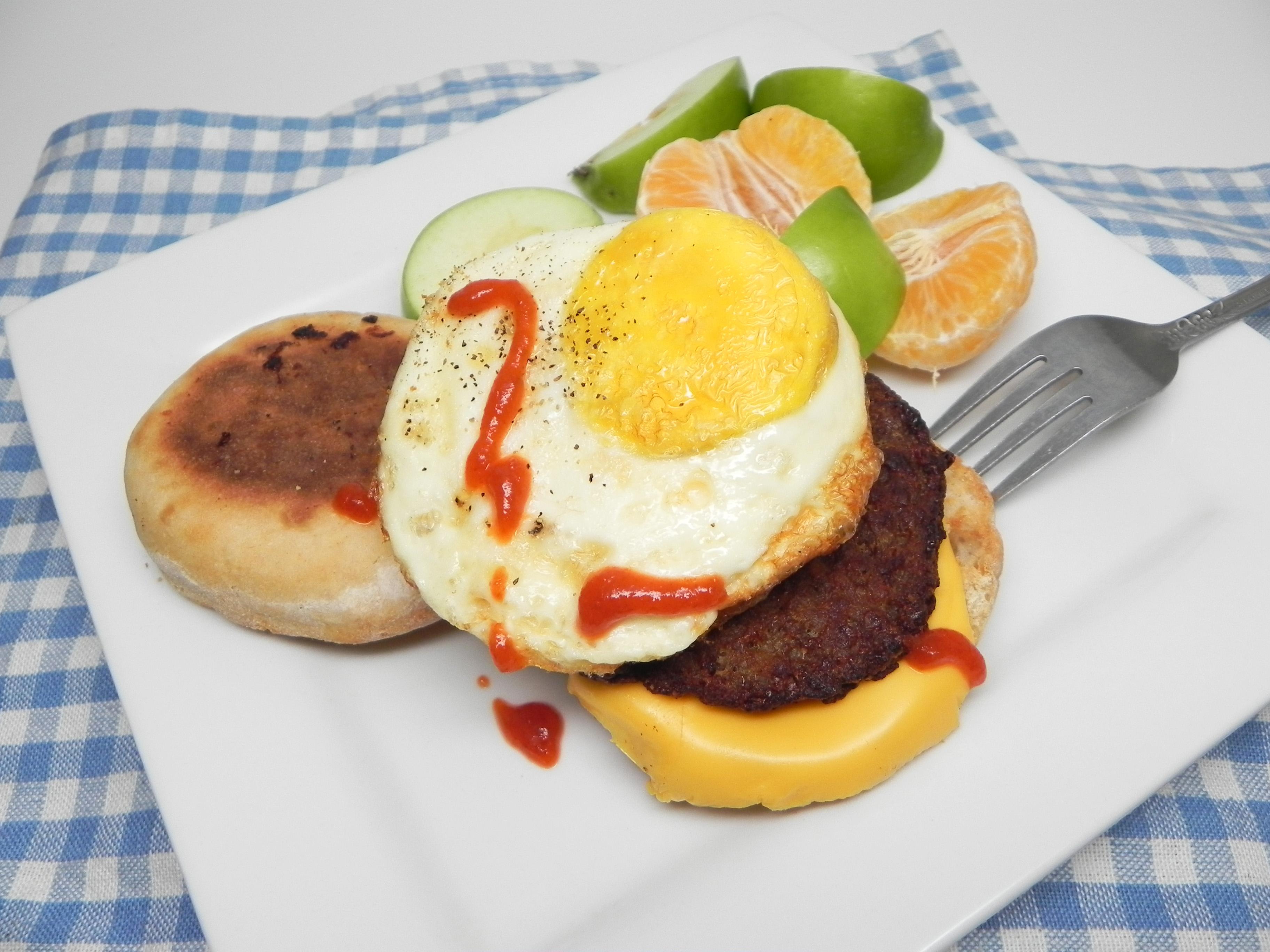 Air Fryer Breakfast Sandwich On the Go