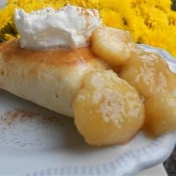 Bananas Foster Chimichangas Loves2Cook