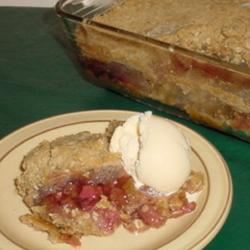 Tart-N-Sweet Rhubarb Crisp Lucky Noodles