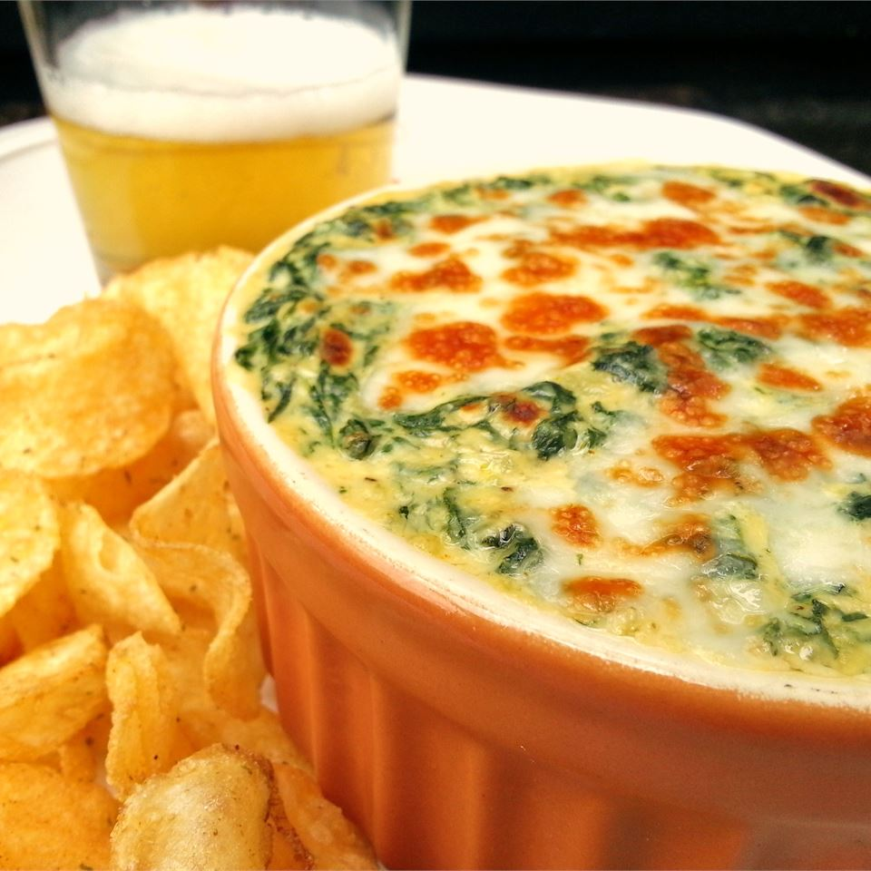 Creamy Cheesy Spinach Dip