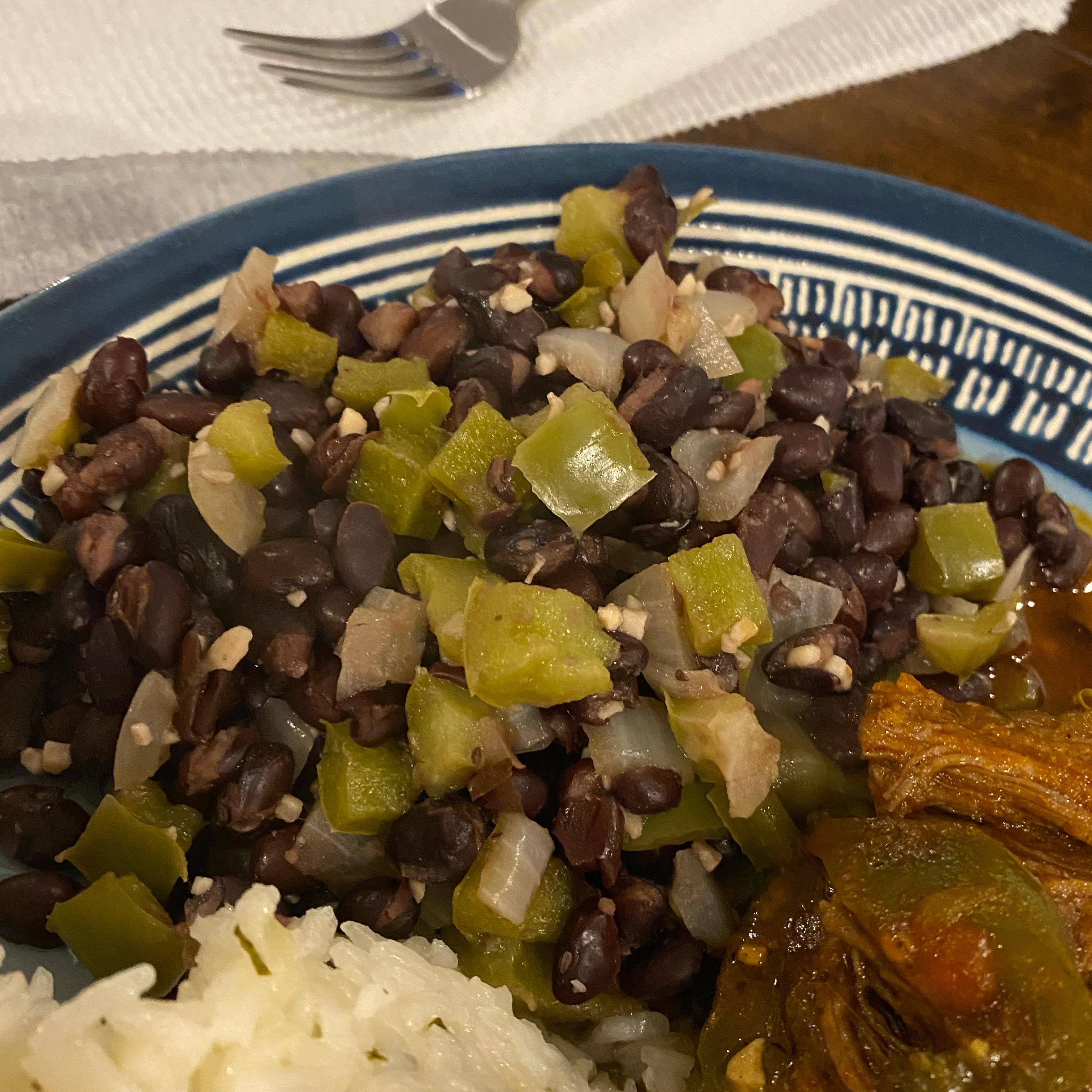 Cuban-Style Black Beans James Bersaglia