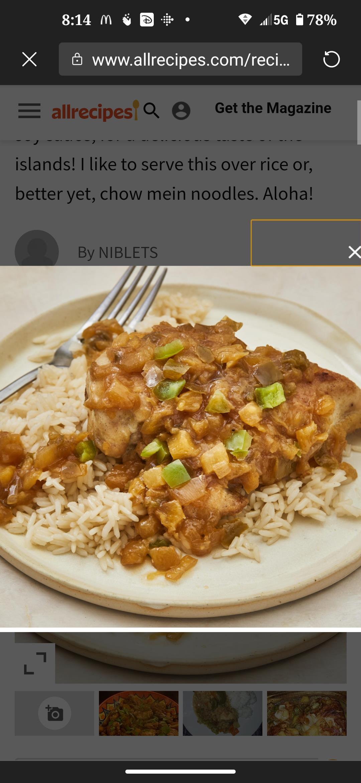 Hawaii Chicken Sheila G