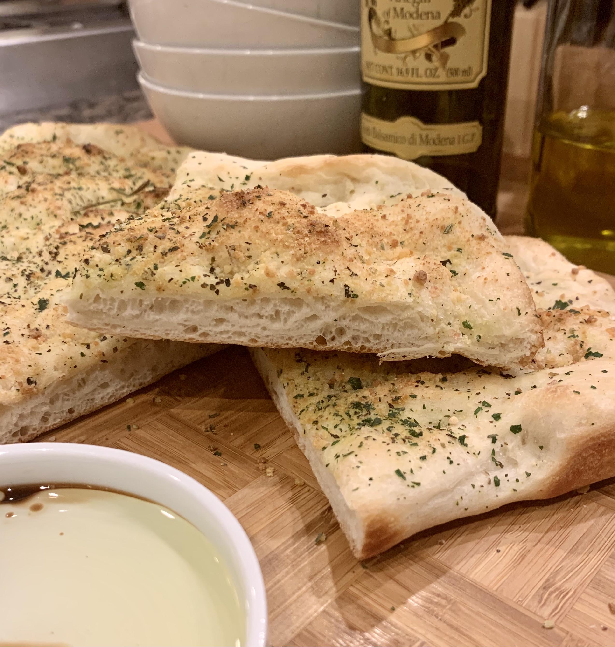 Deliciously Easy Garlic Herb Focaccia